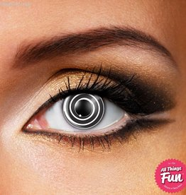 Funky Vision Black Spiral Cosmetic Lens - 90 Day