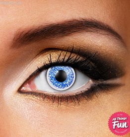 Funky Vision Glimmer Blue Cosmetic Lens - 90 Day