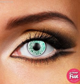 Funky Vision Glimmer Green Cosmetic Lens - 90 Day