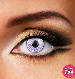 Funky Vision Glimmer Silver Cosmetic Lens - 90 Day