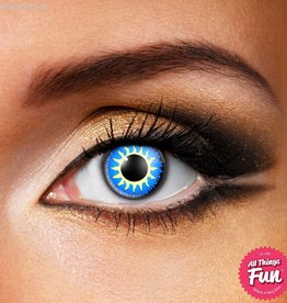 Funky Vision Glamour Blue Cosmetic Lens - 90 Day