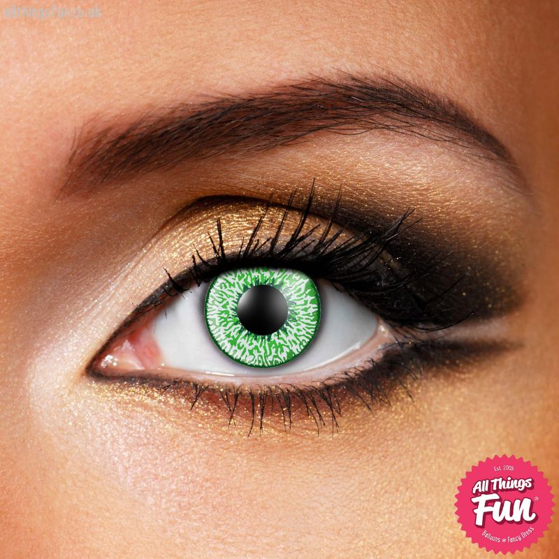 Funky Vision Mystic Green Cosmetic Lens - 90 Day