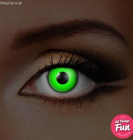 Funky Vision I-Glow Green Cosmetic Lens - 90 Day