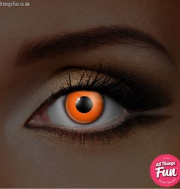 Funky Vision I-Glow Orange Cosmetic Lens - 90 Day