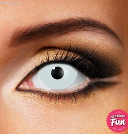 Funky Vision Mini Sclera White Cosmetic Lens - 90 Day