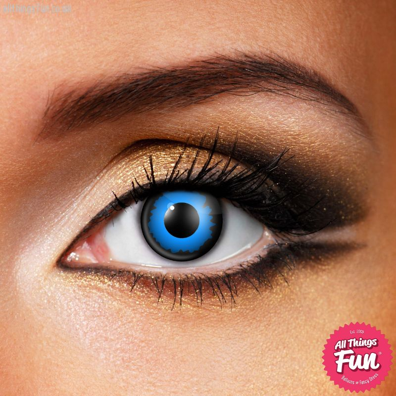 Funky Vision Blue Elf Cosmetic Lens - 90 Day