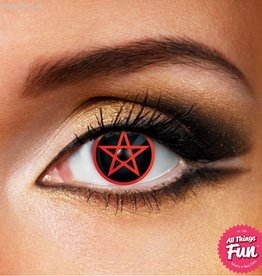 Funky Vision Red Pentagram Cosmetic Lens - 90 Day