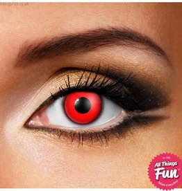 Funky Vision Red Cosmetic Lens - 1 Day Wear