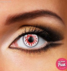 Funky Vision Blood Splat Cosmetic Lens - 1 Day Wear
