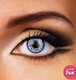 Funky Vision Sapphire Blue 3 Tone Cosmetic Lens - 90 Day