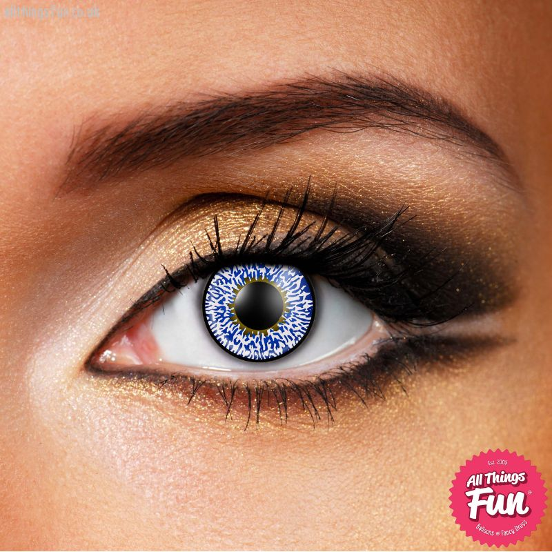 Funky Vision Blue 3 Tone Cosmetic Lens - 90 Day