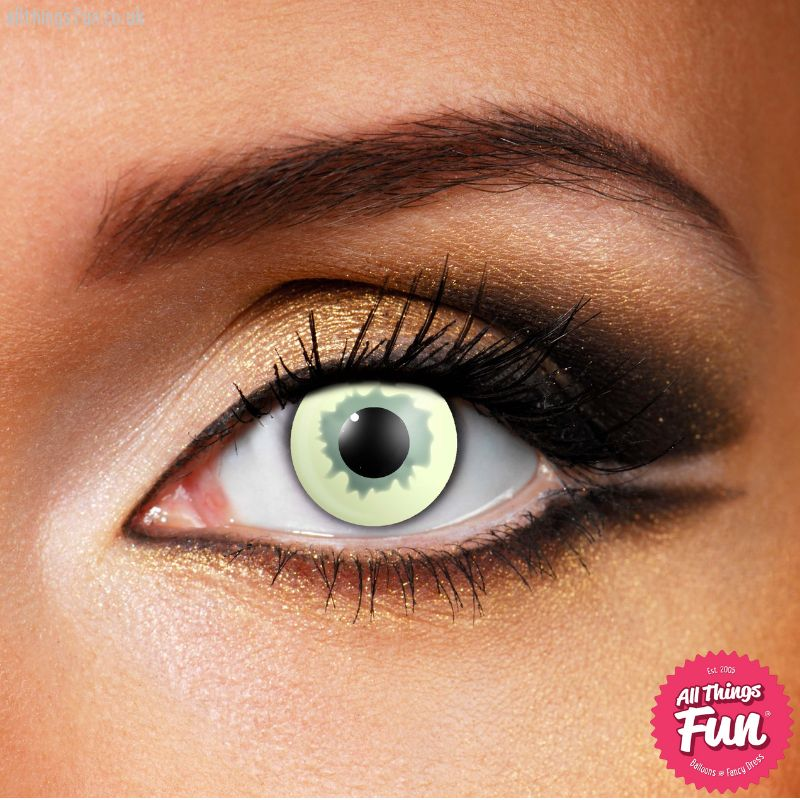 Funky Vision Ghost Cosmetic Lens - 1 Day Wear