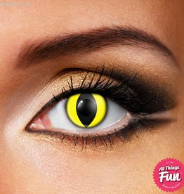 Funky Vision Yellow Cat Cosmetic Lens - 1 Day Wear