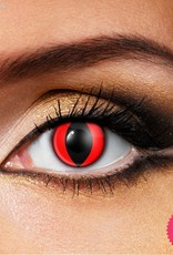 Funky Vision Red Cat Cosmetic Lens - 1 Day Wear