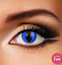 Funky Vision Blue Cat Cosmetic Lens - 90 Day
