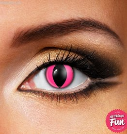 Funky Vision Pink Cat Cosmetic Lens - 90 Day Wear