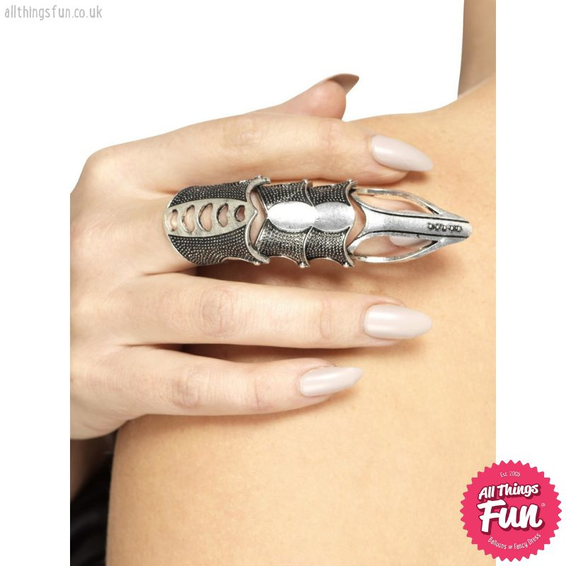 Smiffys *SP* Gothic Silver Finger Armour