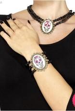 Smiffys Day of the Dead Black Beaded Bracelet