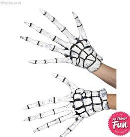 Smiffys *SP* White Latex Grim Reaper Skeleton Gloves