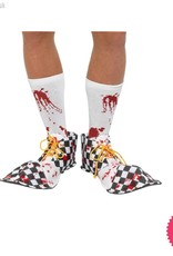 Smiffys Black & White Bloody Clown Shoe Covers