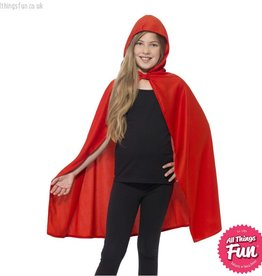 Smiffys Childs Red Hooded Cape