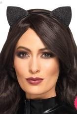 Smiffys Glitter Vinyl Cat Ears