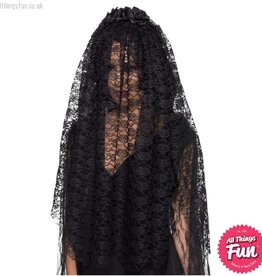 Smiffys Black Widow Veil
