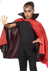 Smiffys Reversible Black & Red Vampire Cape