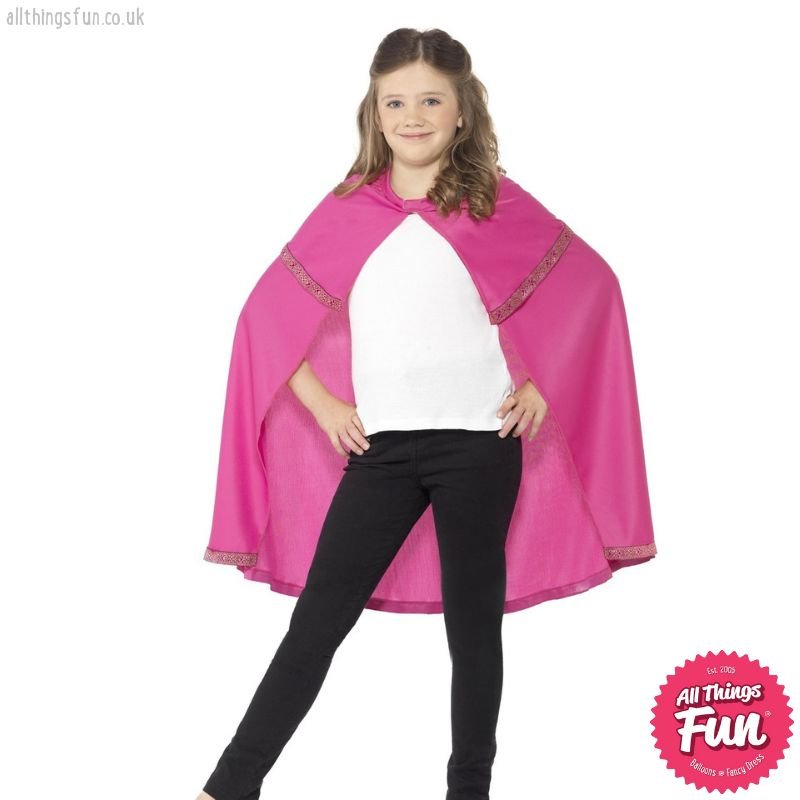 Smiffys *DISC* Childs Pink Cape