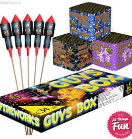 Absolute Fireworks Firework Deal 2 - Garden Party - Guys Box, Ballistics & Pik n Mix