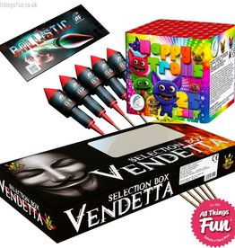 Absolute Fireworks Firework Deal 3 - Big Bang Party - Vendetta Box, Ballistics & Happy Trolls