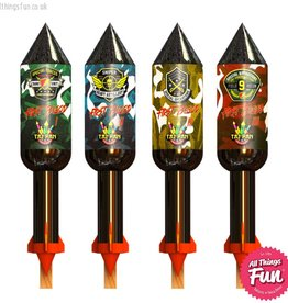 Taipan Fireworks First Blood - 4 Rocket Pack
