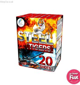Absolute Fireworks Steel Tigers - 20 Shots Single