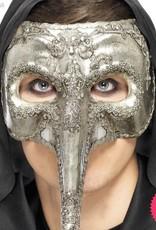 Smiffys *SP* Luxury Venetian Capitano Silver Mask