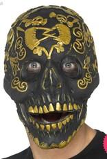 Smiffys Deluxe Gold Latex Masquerade Skull Mask