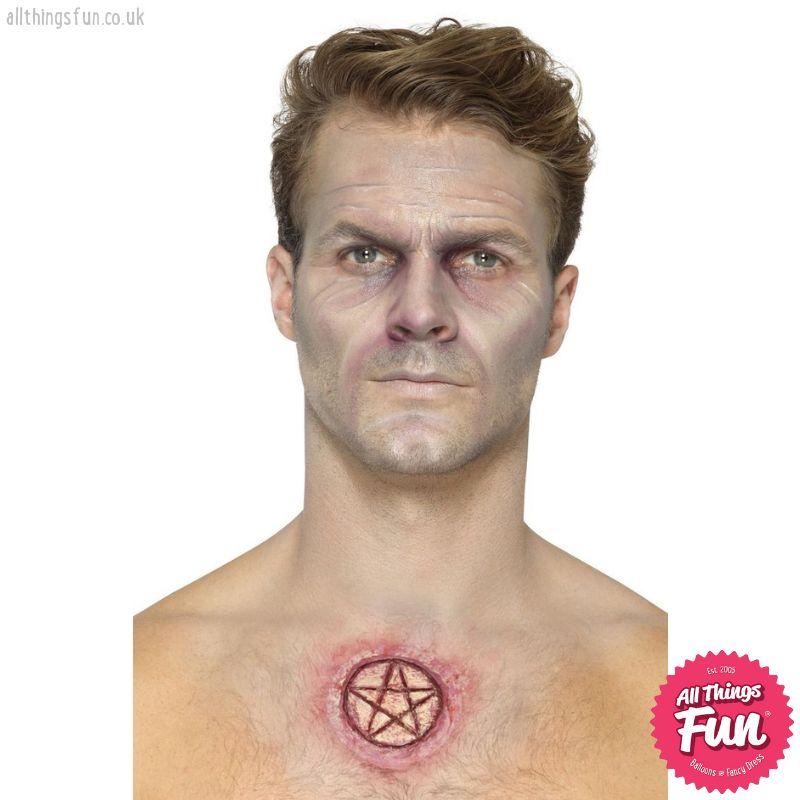 Smiffys Latex Pentagram Scar Prosthetic with Adhesive