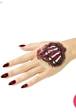 Smiffys *SP* Latex Red Exposed Hand Bones Prosthetic with Adhesive
