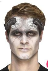 Smiffys *SP* Latex Black Demon Horn Prosthetics with Adhesive