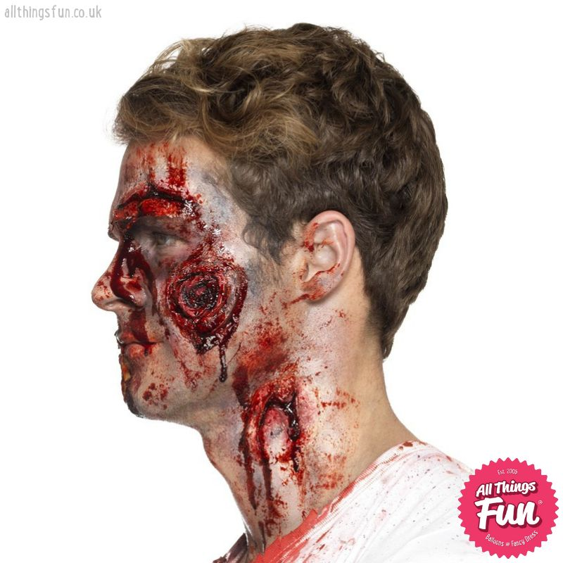 Smiffys Deluxe Latex Gory Wounds with Adhesive