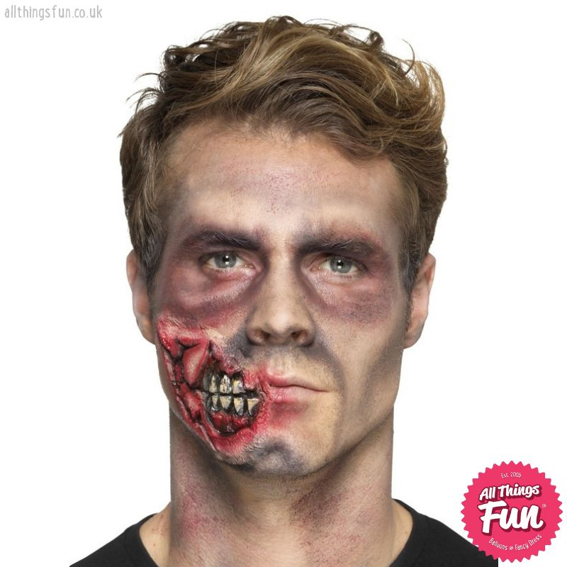 Smiffys *SP* Latex Red Zombie Jaw Prosthetic with Adhesive