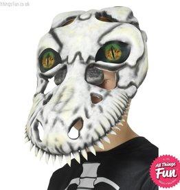Smiffys *SP* T-Rex Skull Mask, White with Lenticular 3d Print Eyes