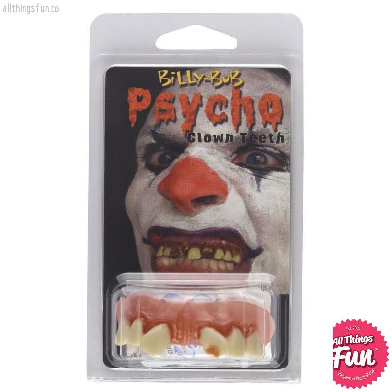 Smiffys *SP* Psycho Clown Teeth with Fixing Beads