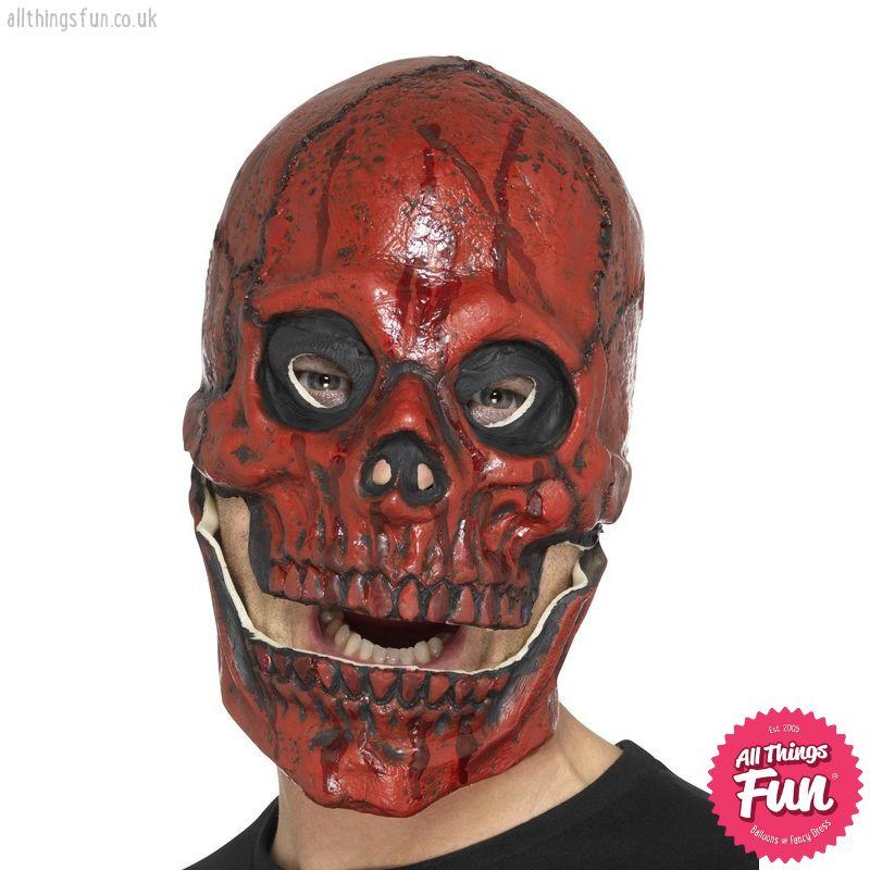 Smiffys Blood Skull Foam Overhead Latex Mask