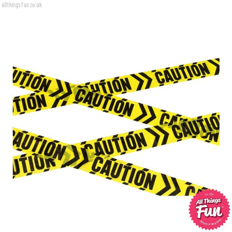 Smiffys Caution Chevron Tape