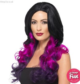 Smiffys Deluxe Purple Ombre Wig
