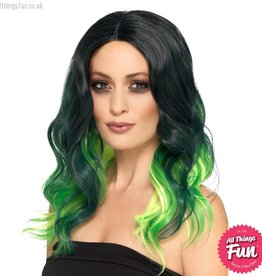 Smiffys Deluxe Green Ombre Wig