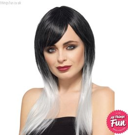 Smiffys Deluxe Grey Ombre Wig