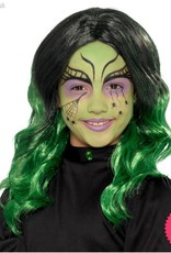 Smiffys Kids Black & Green Witch Wig