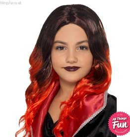 Smiffys Kids Black & Red Witch Wig
