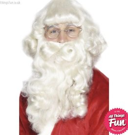 Smiffys Deluxe Santa Wig and Beard Set